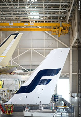 Finnair's first A350 aircraft are currently being built in Toulouse, France/Finnair