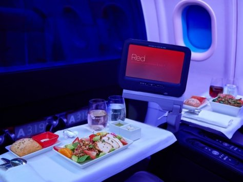 "Virgin America today announces its new summer menu and partnership with Dean & DeLuca. The airline's latest seasonal menu includes big, bold flavors, like the beef Bulgogi Bibimbap bowl and the herb roasted chicken salad with a Dijon-tarragon vinaigrette. Virgin America's focus on a fresh, diverse range of menu options has helped the airline capture the ""Best Domestic Airline for Food"" award in the *Travel + Leisure* 2014 World's Best Awards. (PRNewsFoto/Virgin America)"