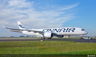 Finnair's new A350XWB rolls out in Toulouse/Airbus
