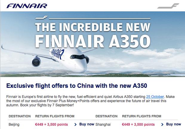 Finnair A350 offers