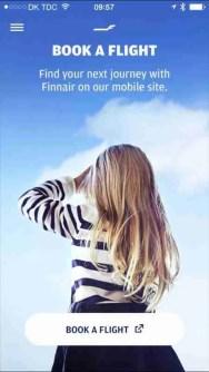 Finnair Mobile Site, Screen Snap, FCMedia