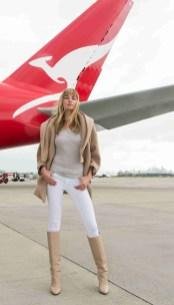 Qantas' official Trend Consultant, model Jessica Hart