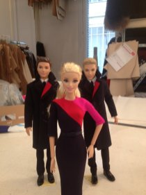 Qantas Barbie and Ken Show Off New Uniforms at Workshop of Designer Martin Grant