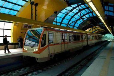 Sofia Metro train at Musagenitsa Metro Station, Ivan Ktatzev (Nightpish), Commons
