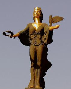 The Statue of Sveta Sofia, Railroadwiki - Own work, Commons