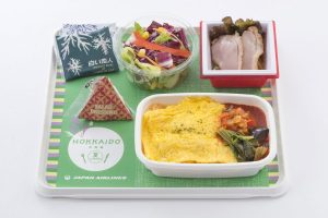 JAL new Hokkaido Economy Meals, Omelette Rice, under the supervision of Gotoken (Hakodate)