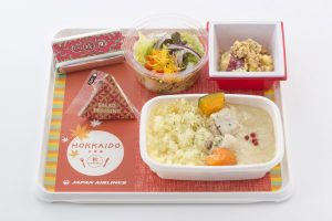 JAL new Hokkaido Economy Meals, White Curry and Rice (Mombetsu)