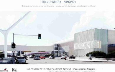 LAX Terminal 1 Modernization Exterior Rendering, Southwest Airlines.