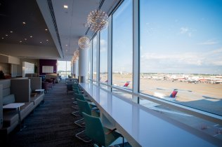 Interior photos of the Terminal B Delta Air Lines Sky Club at Hartsfield Jackson International airport on Thursday, September 22, 2016. © 2016, Chris Rank, Rank Studios