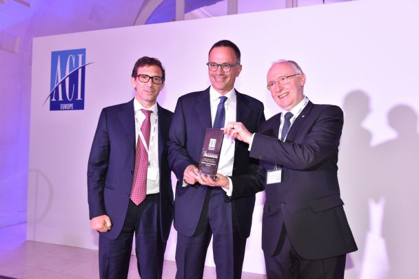 Alessandro Fidato and Armando Brunini, Naples International Airport, and Salvatore Sciacchitano, ECAC © ACI EUROPE