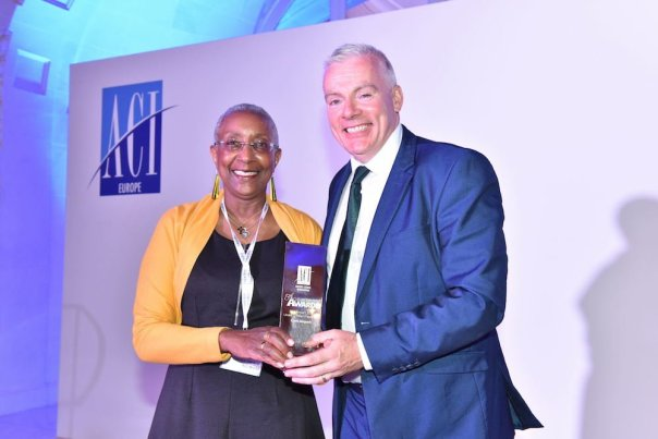 Angela Gittens, Director General ACI World and Niall MacCarthy Cork Airport © ACI EUROPE