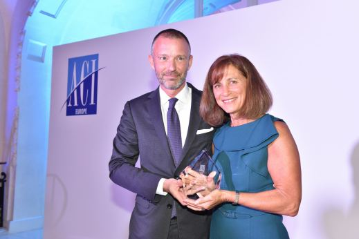 Olivier Jankovec, Director General, ACI EUROPE and Catherine Mayer, VP, SITA © ACI EUROPE
