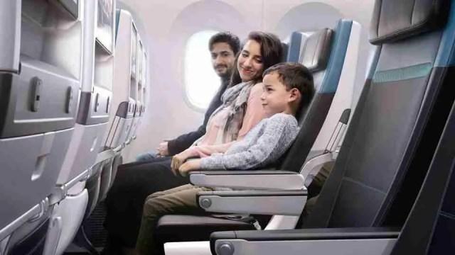WestJet Dreamliner Economy cabin