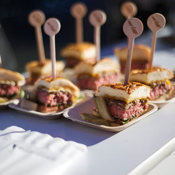 The Flagship Burger presented at NYCWFF's annual burger competition.