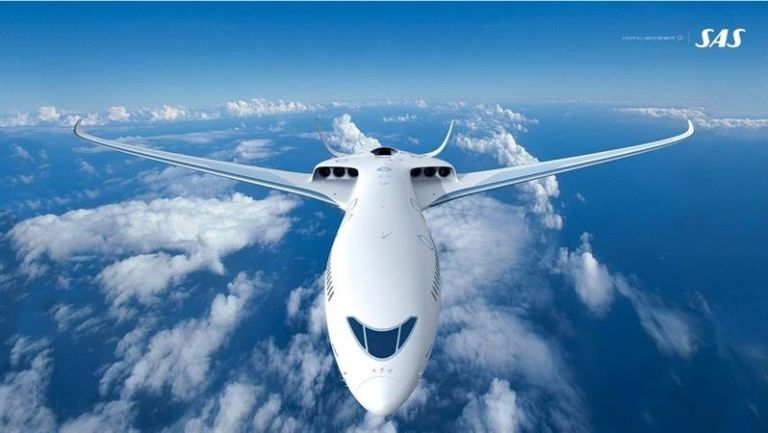 SAS concept for hybrid-electric powered commercial aircraft.