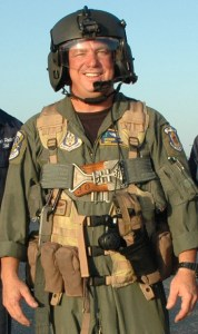 Senior Master Sgt. Steph Schwarz, combat flight engineer, 920th Rescue Wing, Patrick Air Force Base, Fla., responded swiftly to save two teens who were critically injured when their personal watercraft slammed into his backyard wooden boat dock.(U.S. Air Force photo/Maj. Cathleen Snow)
