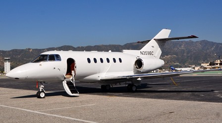 Hawker 850XP jet charter Los Angeles CA
