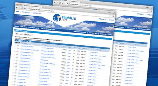 New Capabilities Added To FlightList PRO Platform - Jet
