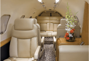 SAI Flight Services Learjet Charter Cabin