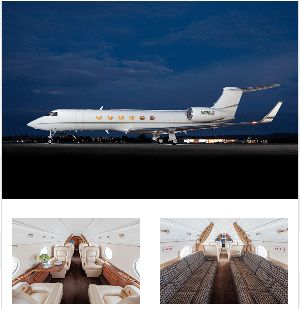 Gulfstream V point to point charter pricing by operator Prime Jet