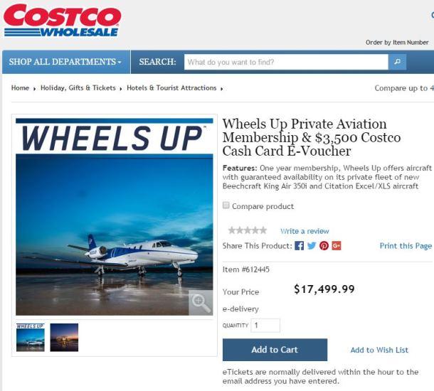 Wheels Up Costco