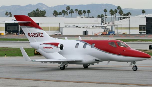 HondaJet private jet for charter