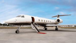 Gulfstream V long range jet now for charter.