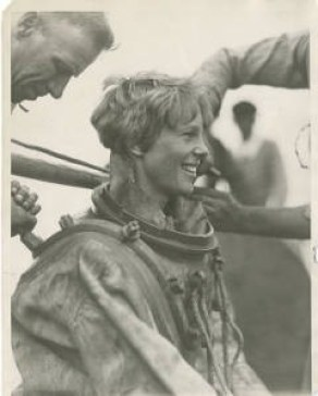 Earhart in Deep Sea Gear