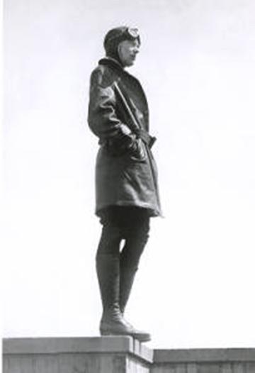 Earhart on ledge