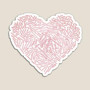 one world heart magnet design by Jade Jackson