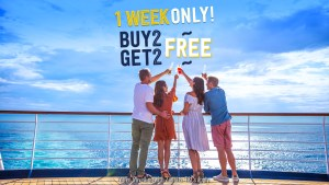 P & O cruise sale 50% off