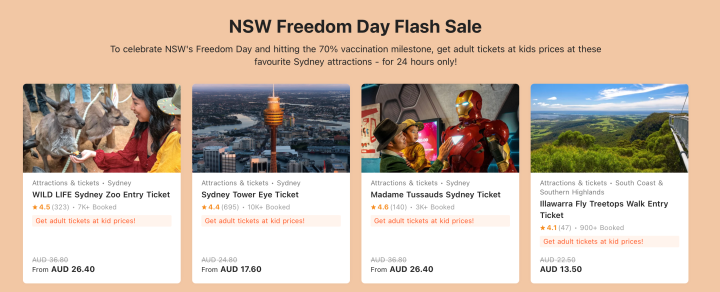 50% off Activities in Sydney – Today Only!