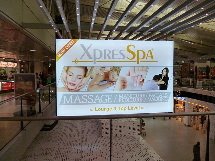 Treat yourself to Spa treatment upstairs at Schipol Airport Amsterdam