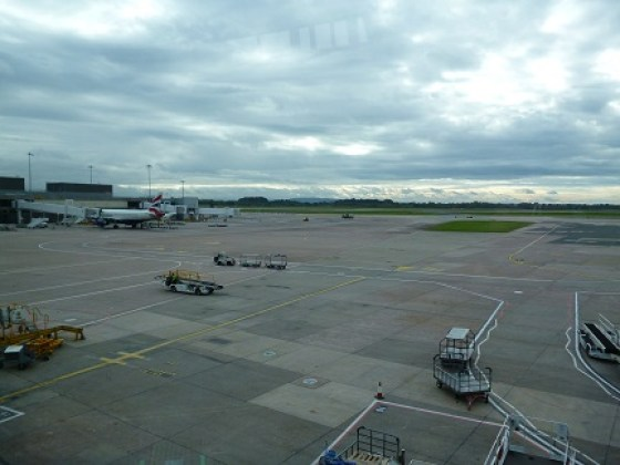 View from Emirates Lounge Manchester Airport