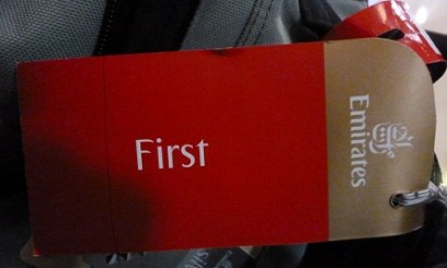 First Class tag following a free upgrade with Emirates