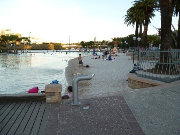 Sandy Beach At Brisbanes Street Beach