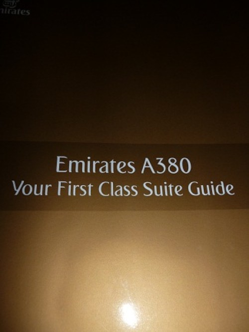 Your First Class Suite Guide for Emirates was not voted the best first class cabin