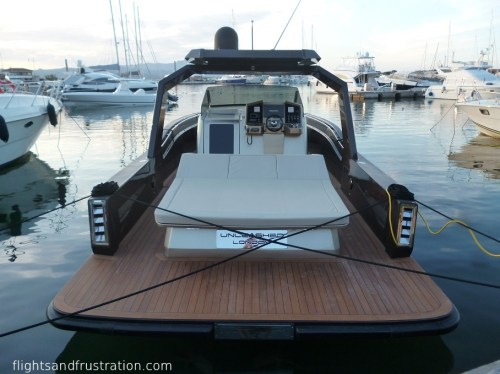 A boat fit for James Bond at Porto Rotondo