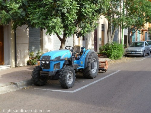Do you mind if I park my tractor here?