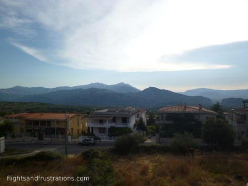 Looking out to the mountains from Dorgali