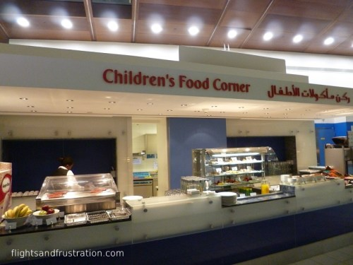 Catering for children is provided at the Emirates Business Class Lounge Dubai Airport