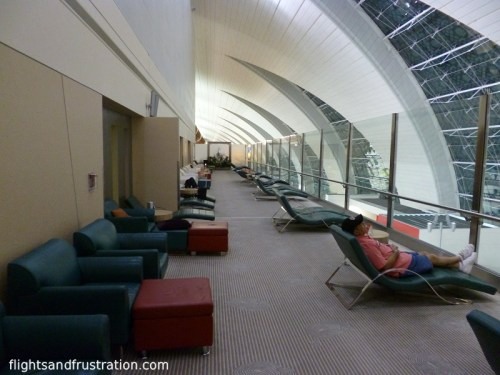 Often one of the quietest areas to rest or snooze in the Emirates Lounge