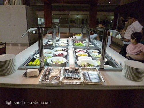 Some healthy food options at the Emirates Lounge Dubai