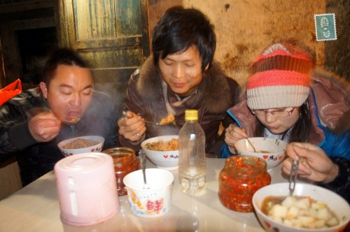 Chinese people eating