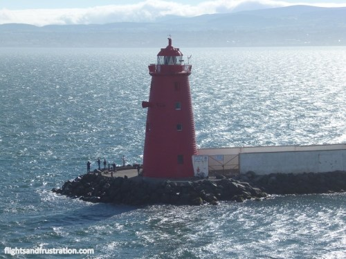 Lighthouse at the entrance to Dublin Port