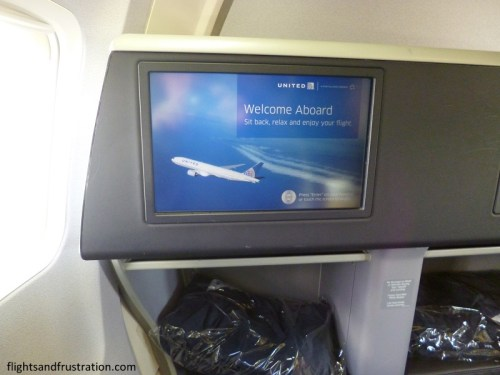 United Business Class entertainment system