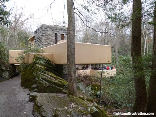 The Frank Lloyd Wright Falling Water House has a lot of cantilevers