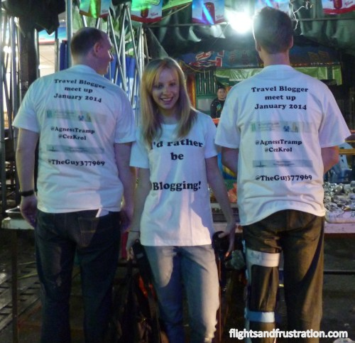 Showing off our etramping and flightsandfrustration t-shirts