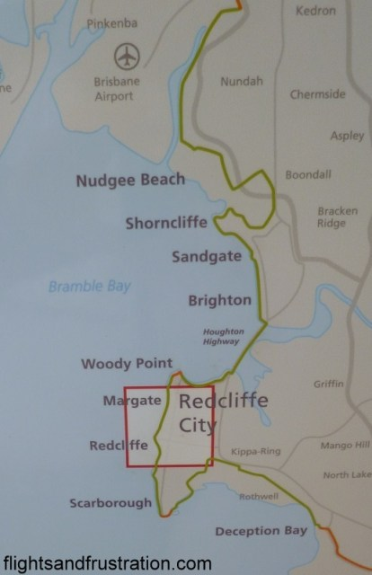 Map of some of the Northern Moreton Bay Tourist Drive