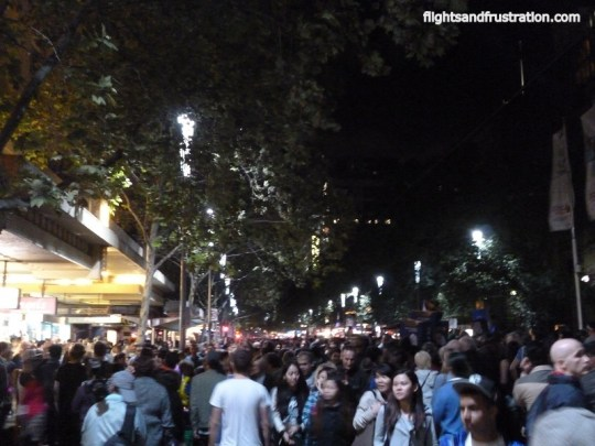 Swanston St on White Night Melbourne Festival